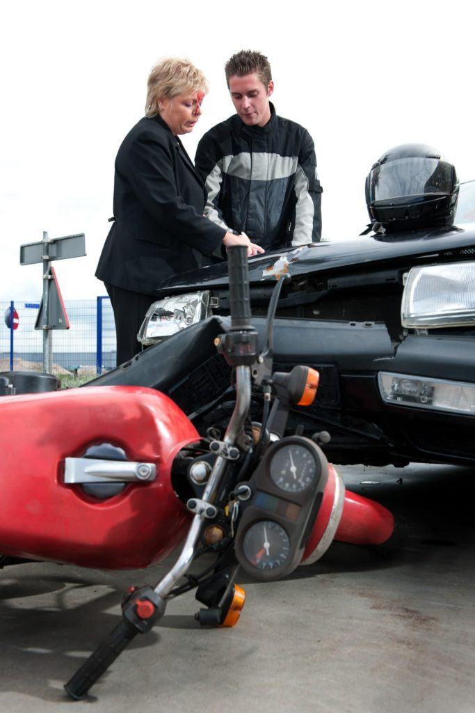 Exchanging Information After a Motorcycle Collision
