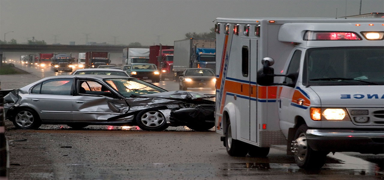 Paramedics assist with motor vehicle accident